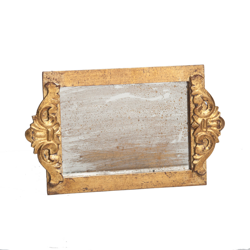 524850 Abigails Wholesale Tabletop Wood and Metals Trays Vendome Tray with Antiqued Mirror* Vendome