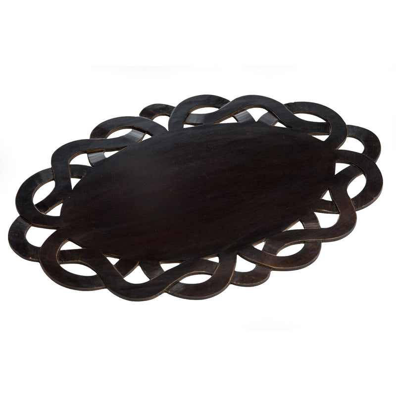 524929 Abigails Wholesale Tabletop Wood and Metals Placemats Wooden Placemat in Mahogany Finish*