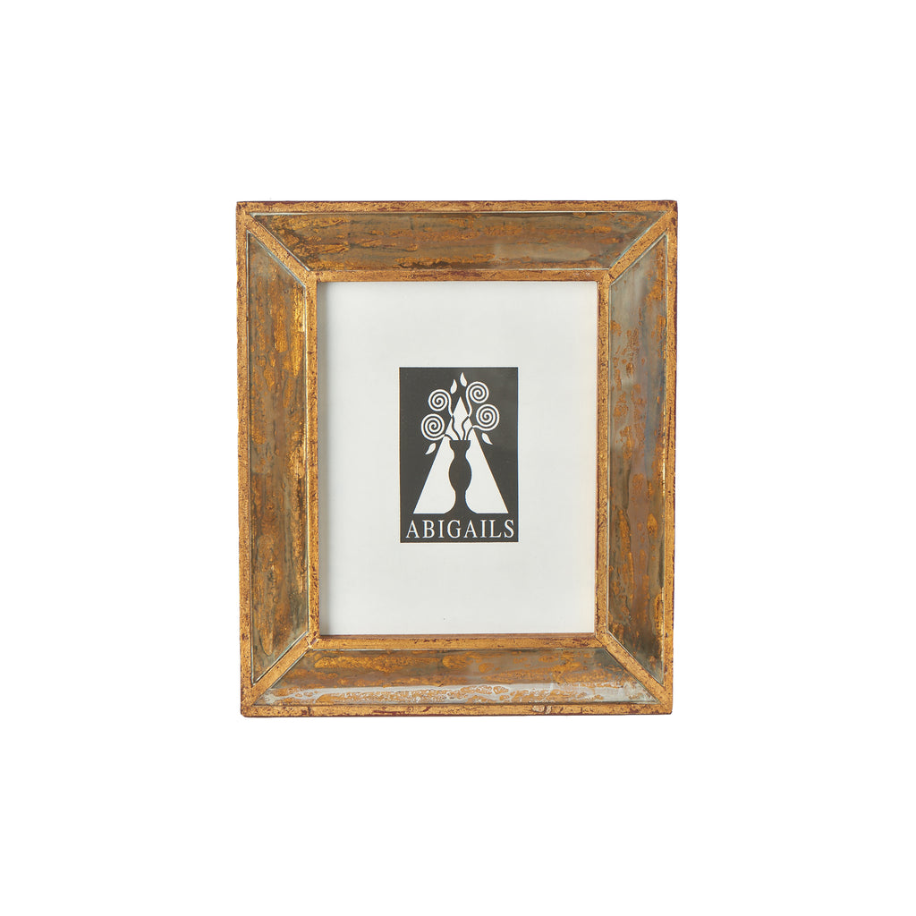 Wood Frame with Antiqued Mirror, Small