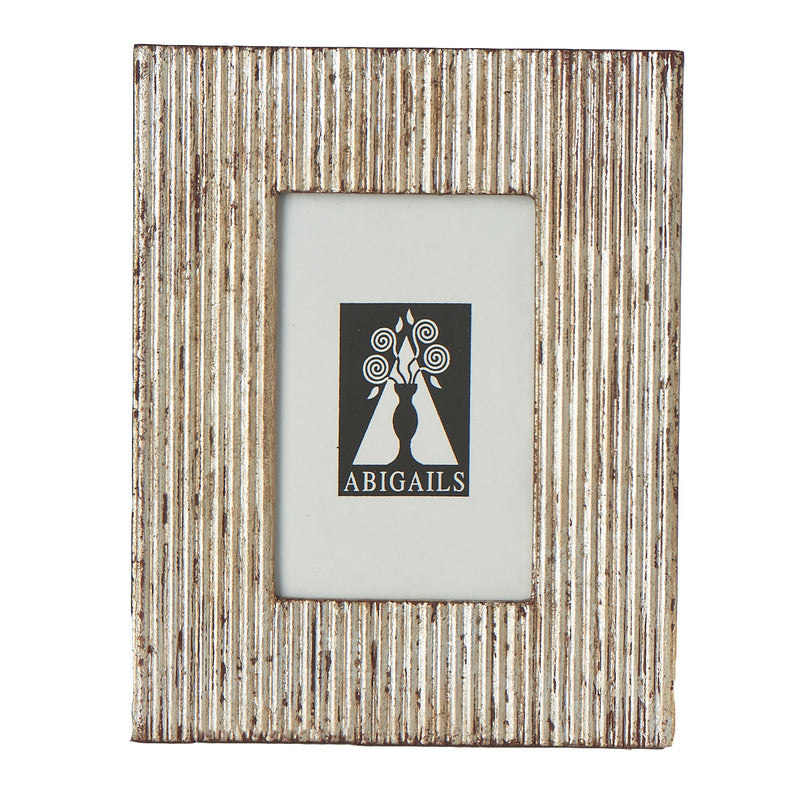 Frame, Carved Wood w/ Silver Finish