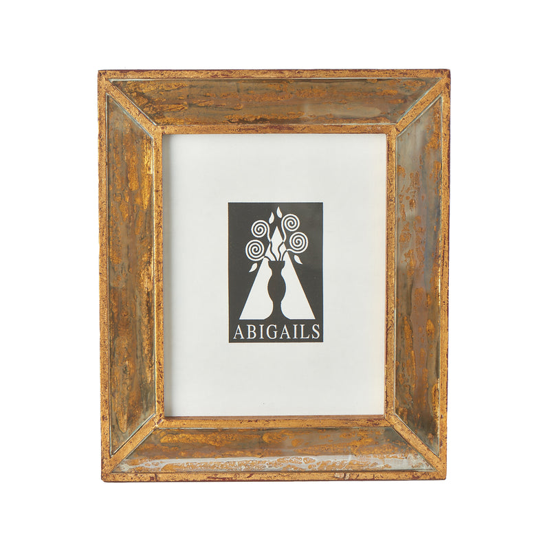 Wood Frame with Antiqued Mirror, Large