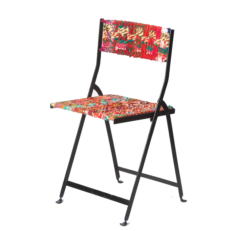 Folding Chair, Multi Color Fabric