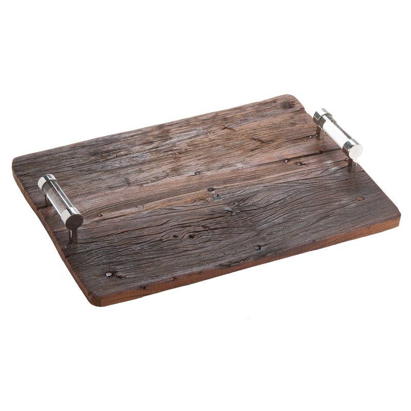 547400 Abigails Wholesale Tabletop Wood and Metals Trays Chalet Wood Tray Chalet