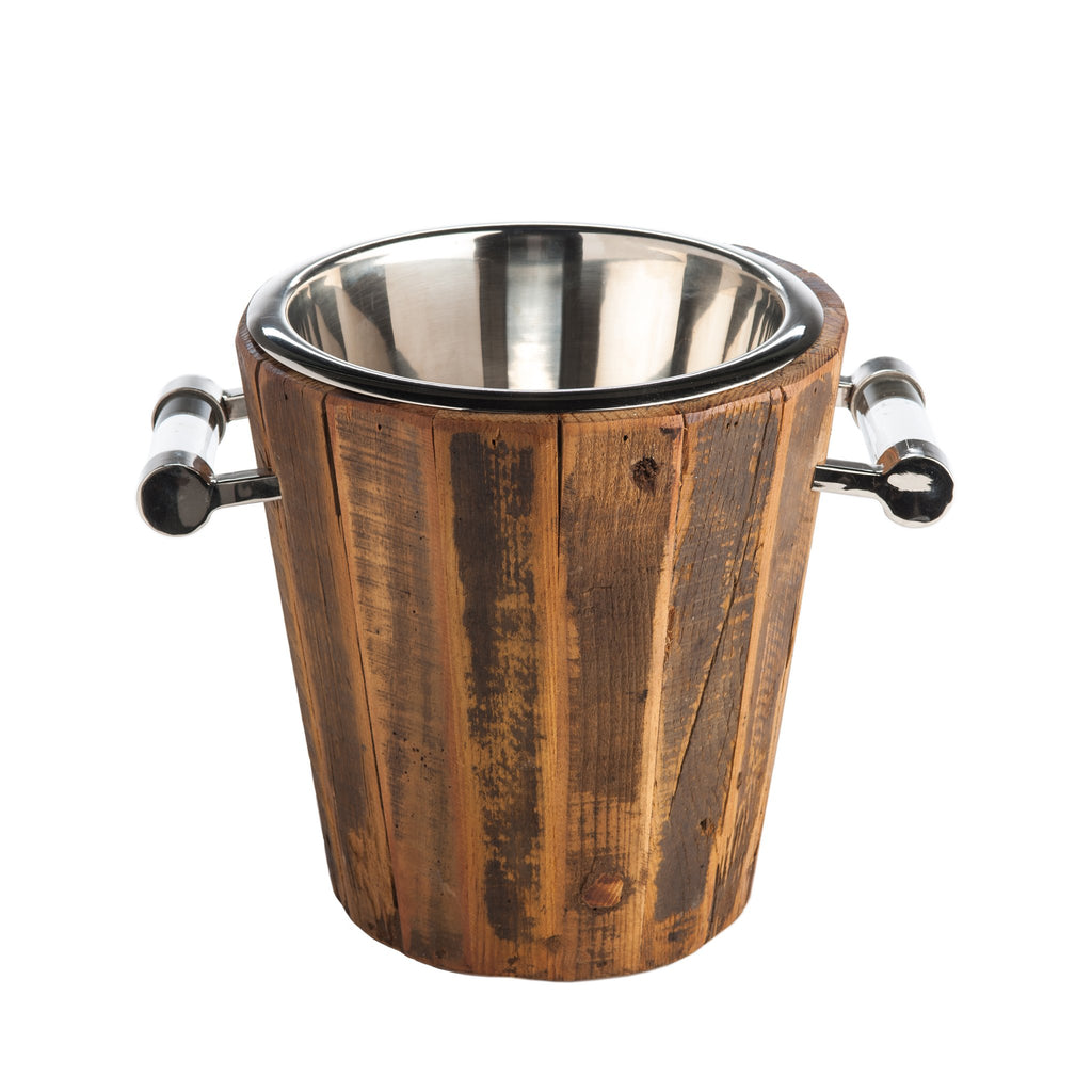 547401 Abigails Wholesale Tabletop Wood and Metals Ice Buckets and Coolers Chalet Wine Cooler Chalet