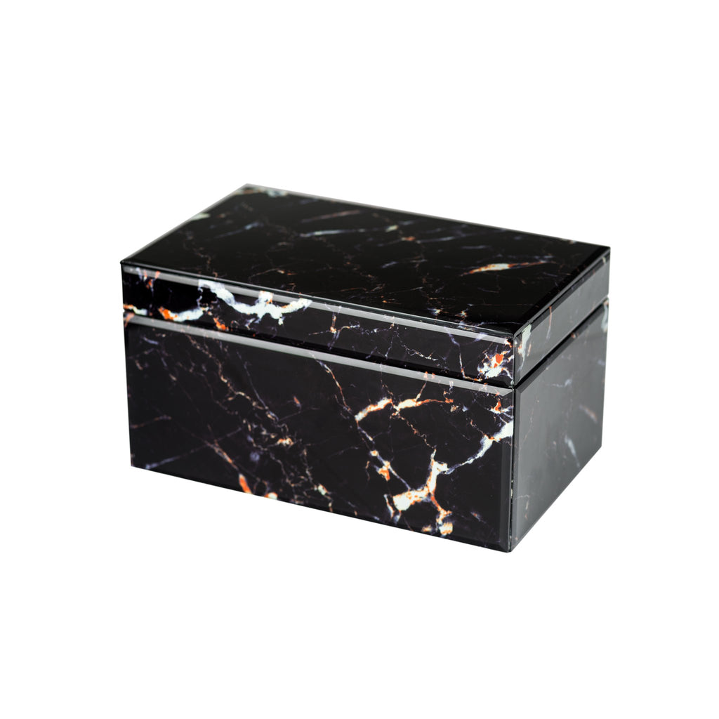 548006 Abigails Wholesale Home Décor Decorative Accessories Boxes Black Marbled Box