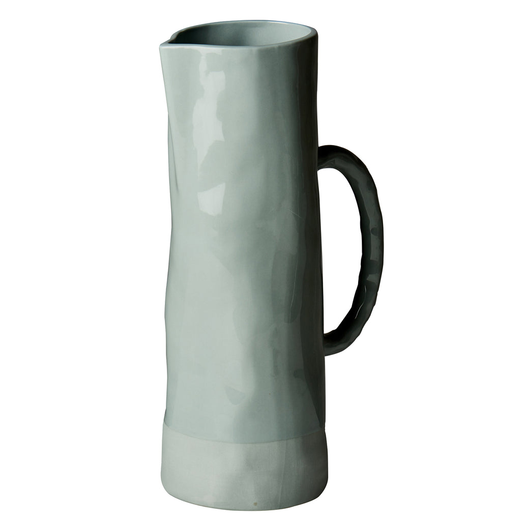 Carmel Pitcher, Blue Gray, Shiny