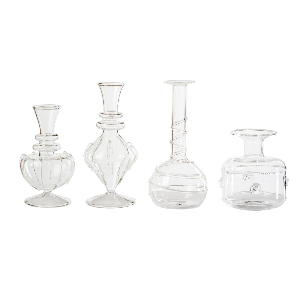 710005 Abigails Wholesale Home Décor Glassware Vases Miss Daisy Bud Vases Set of 4