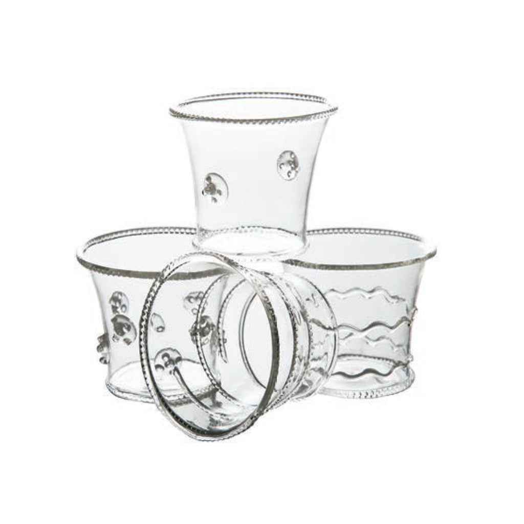 La Boheme Glass Votives, Set of 4