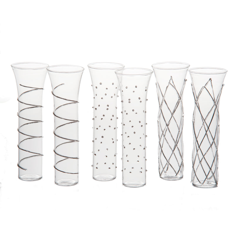 Champagne Flute, Optic Design, set of 6