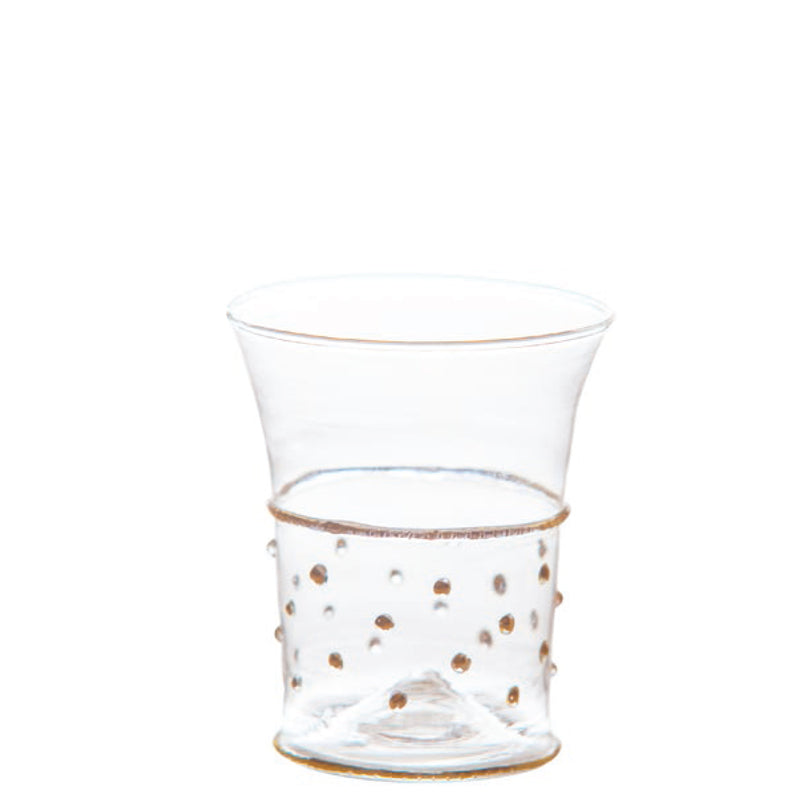 Gatsby Tumbler, Gold Dots, Set of 4