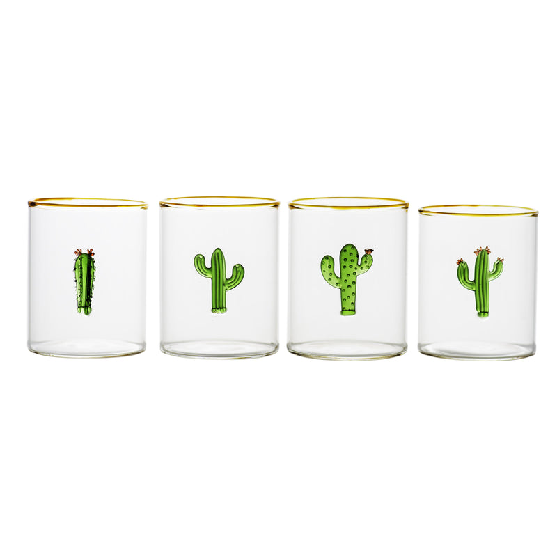 710452 Abigails Wholesale Tabletop Glassware Wine & Bar Aztec Cactus Tumbler