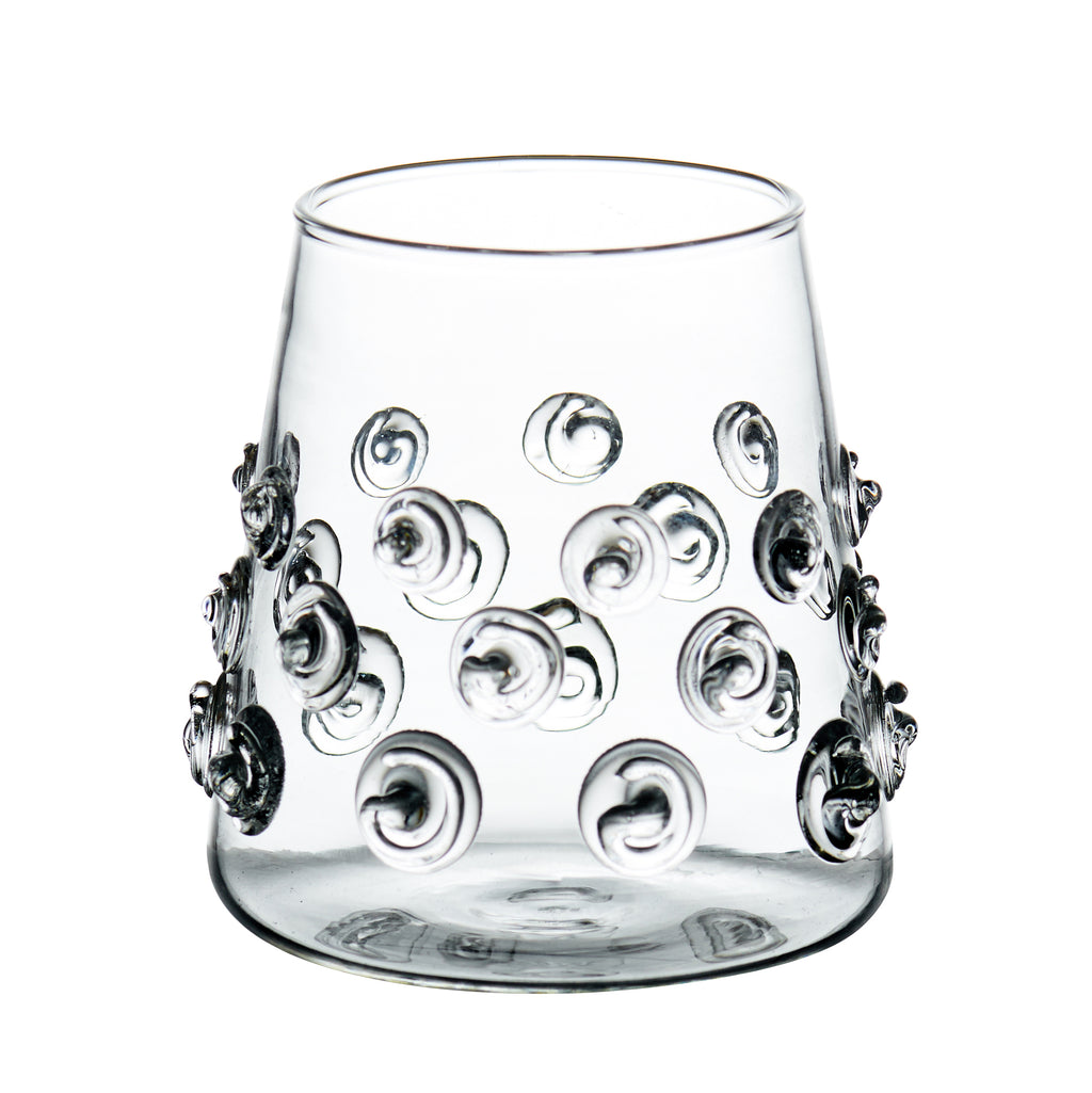 Votive with Glass-Applied Swirls