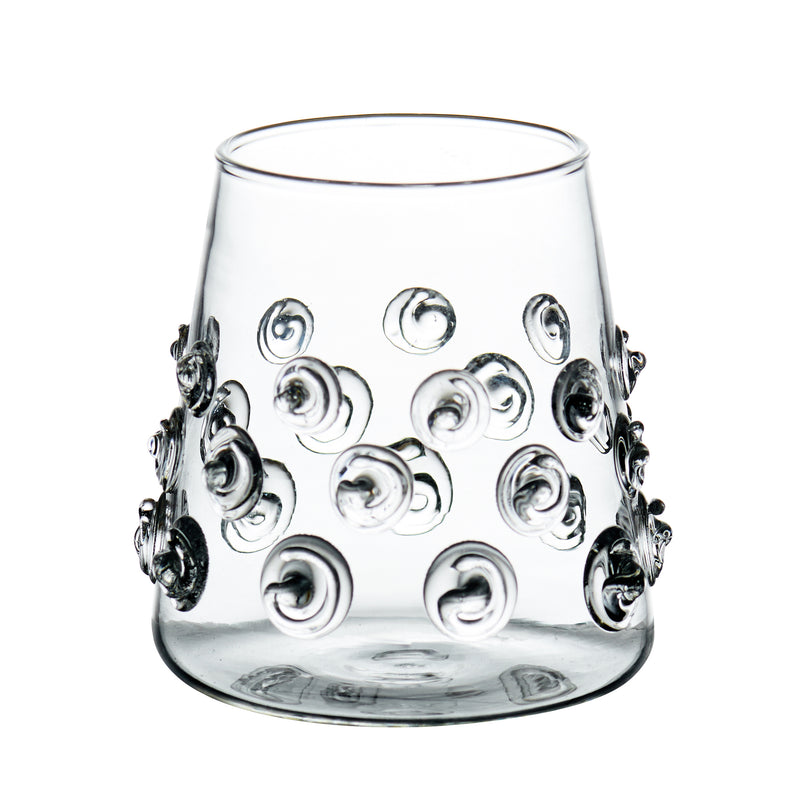 Votive with Glass-Applied Swirls, Set of 4