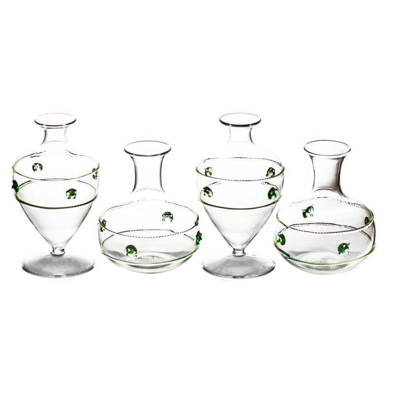 Miss Rose Bud Vase, Set of 4