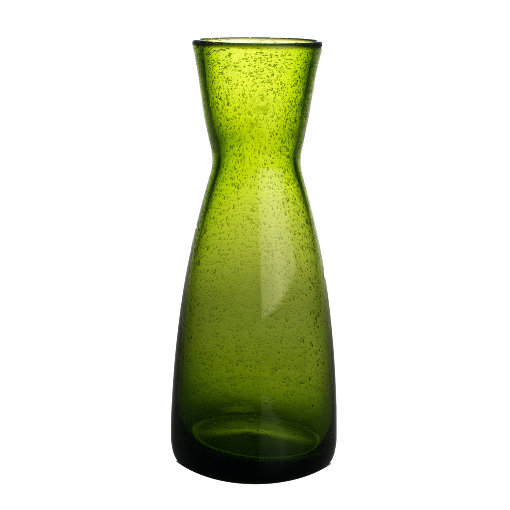 Bubble Glass Carafe, Army Green