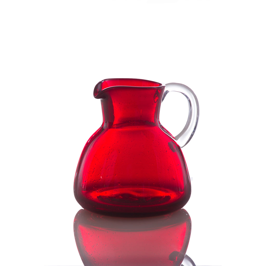 Bubble Glass Pitcher, Red