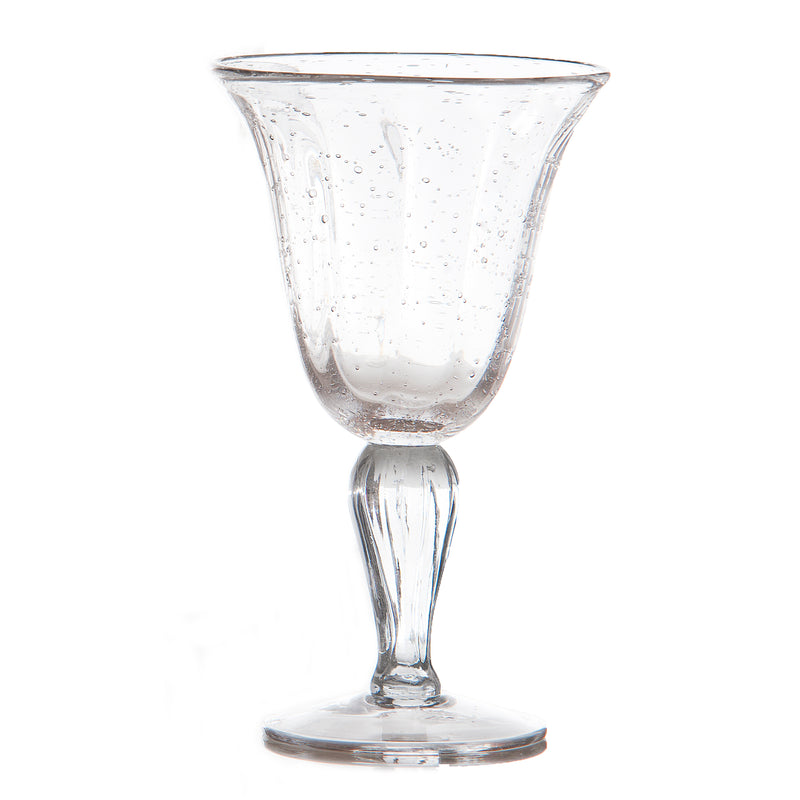 Bubble Glass WIne, Clear, Set of 4