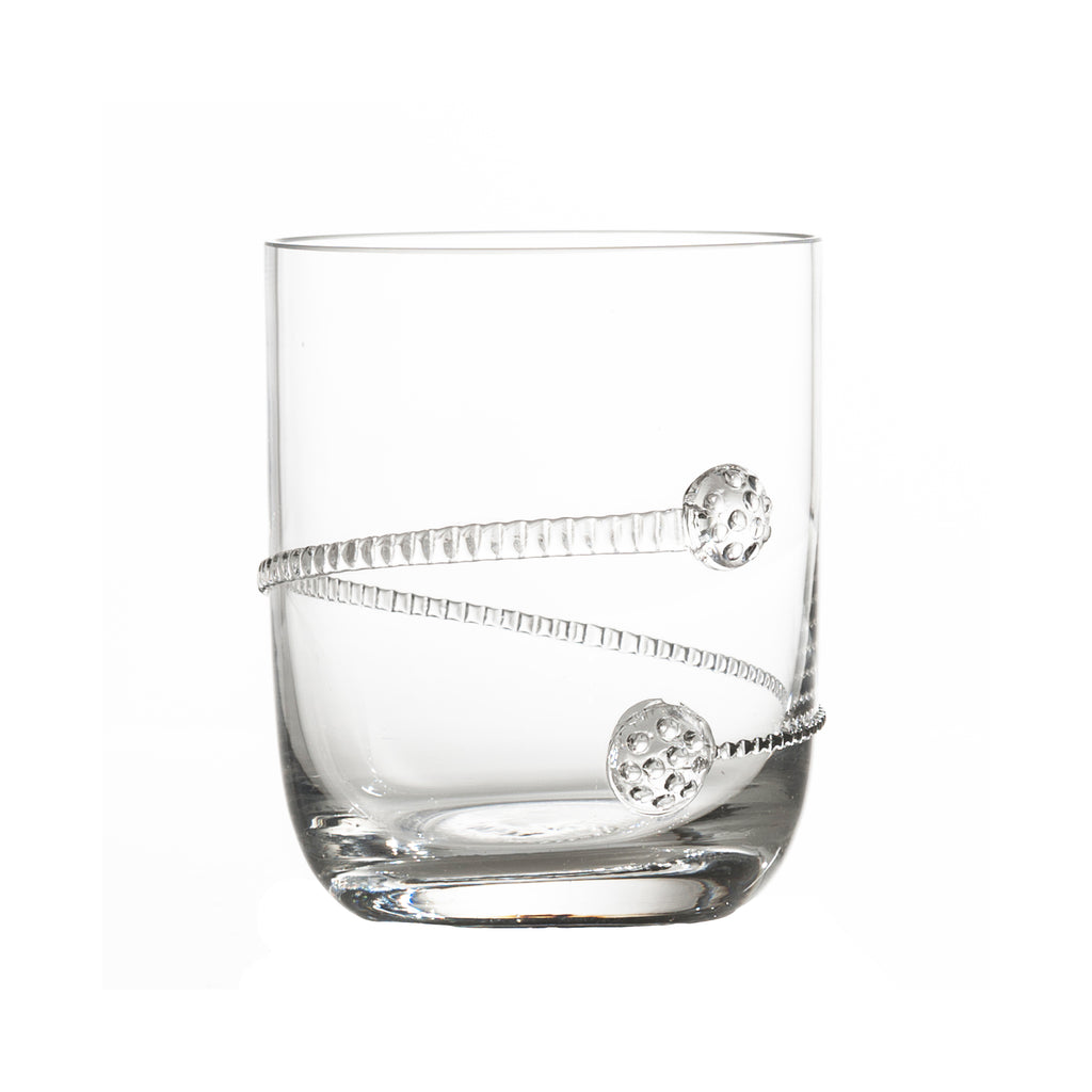 Stemless Cocktail Glass with Applied Rope Design, Set of 4