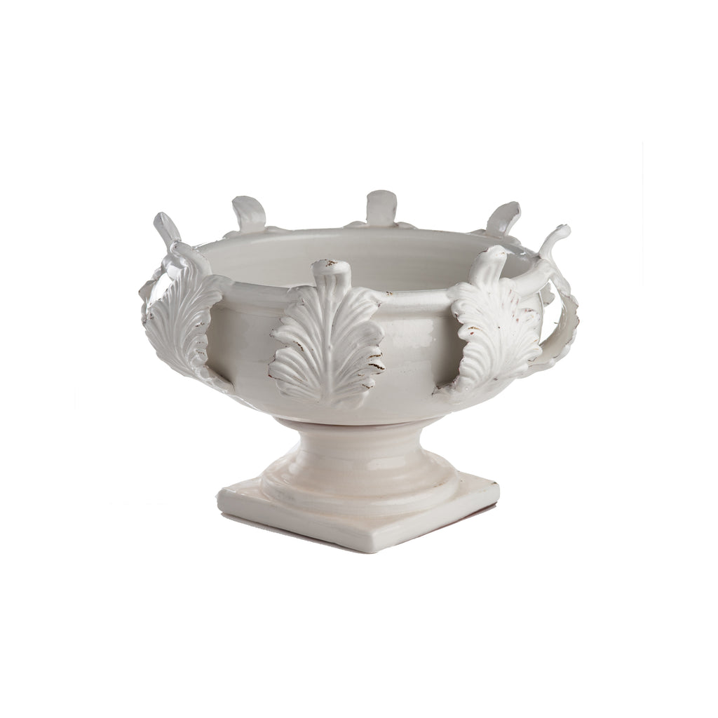 Vinci Centerpiece, Acanthus Leaf Decor, Medium