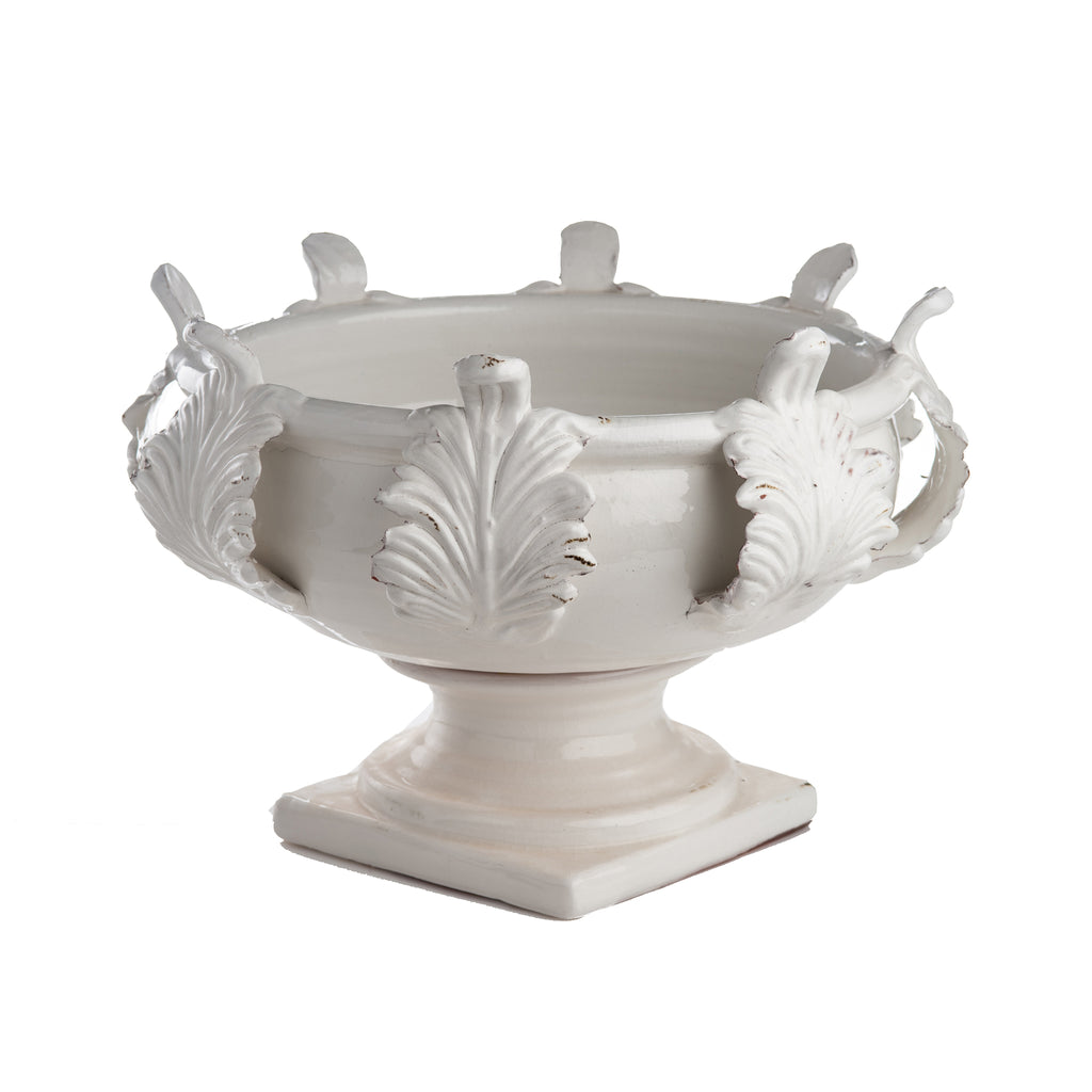 Vinci Centerpiece, Acanthus Leaf Decor, Large