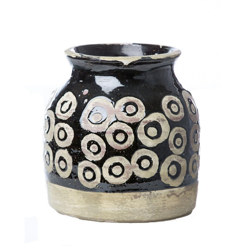 717805 Abigails Wholesale Home Décor Ceramics and Terra Cotta Vases Vinci Moroccan Ceramic Circles Vase Vinci