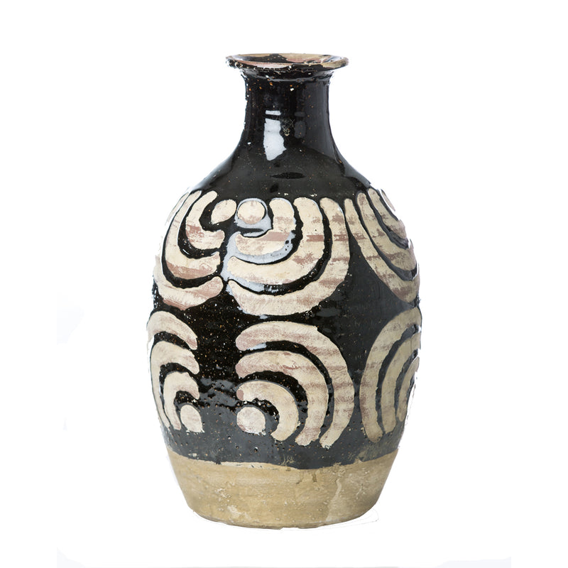 717806 Abigails Wholesale Home Décor Ceramics and Terra Cotta Vases Vinci Moroccan Ceramic Half Round Vase Vinci