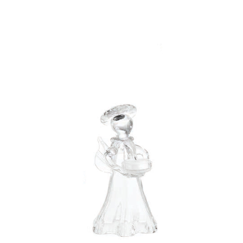 Angel Votive Holder, Clear, Small