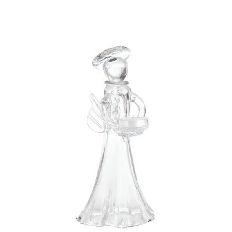 726002 Abigails Wholesale Home Décor Decorative Accessories Candlesticks and Votives Angel Votive Holder Clear Medium* Holiday
