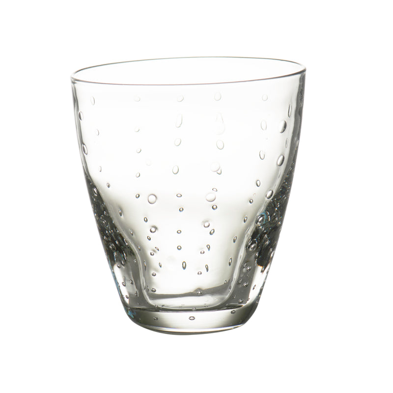 Rain Drop Clear Double Old-Fashioned, Set of 4