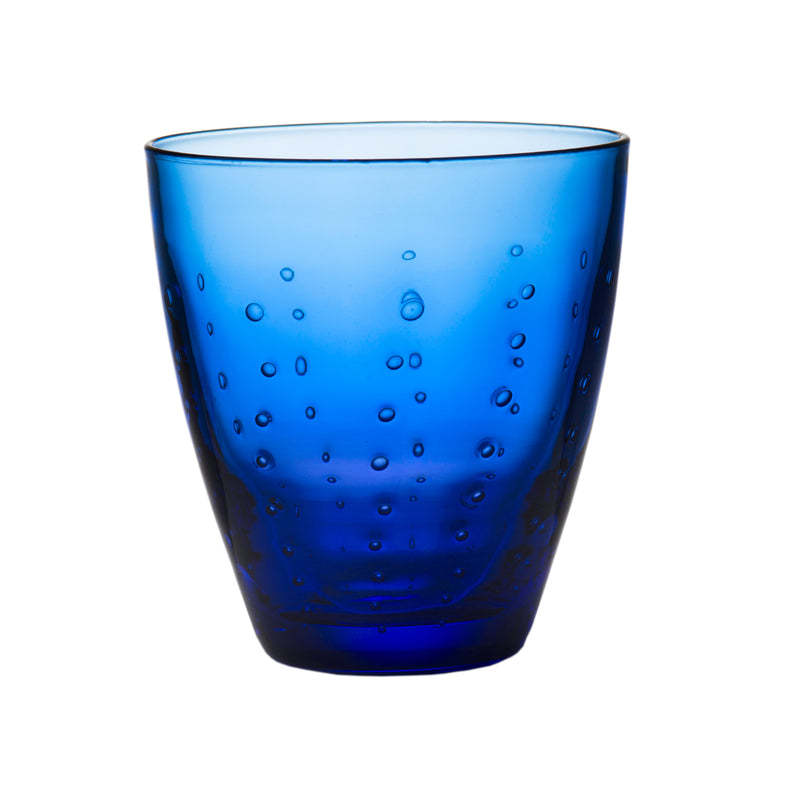Rain Drop Blue Double Old-Fashioned, Set of 4