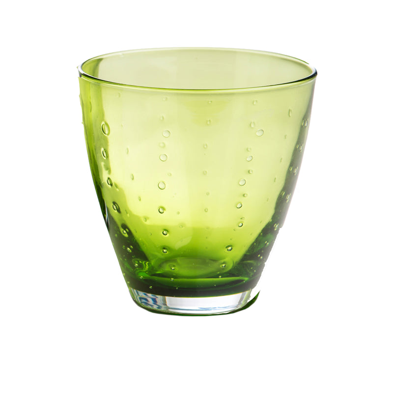 Rain Drop Green  Double Old-Fashioned, Set of 4