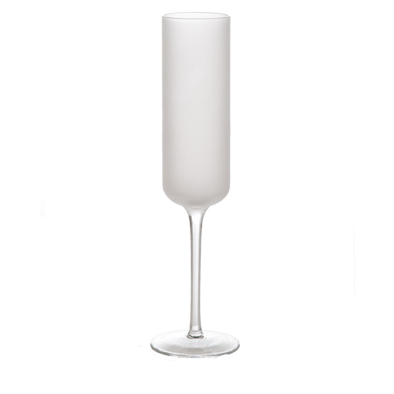 Frosted Champagne Glass, Set of 4