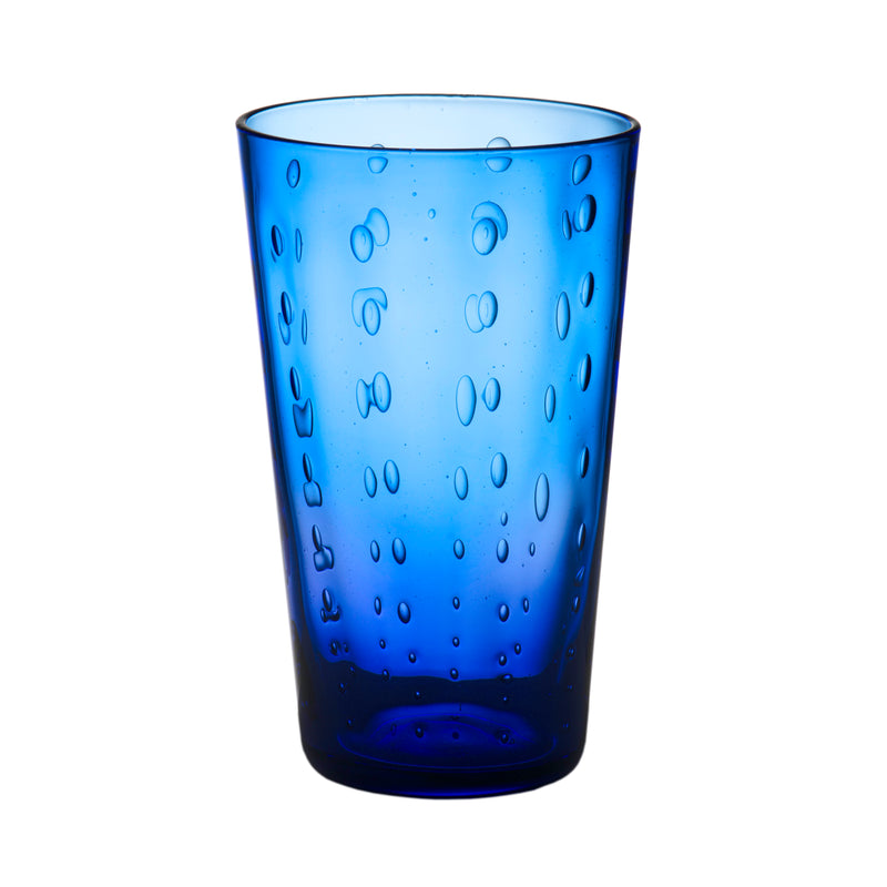 Rain Drop Blue Highball, Set of 4