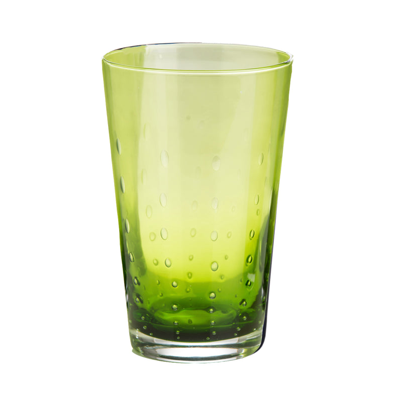 Rain Drop Green  Highball, Set of 4