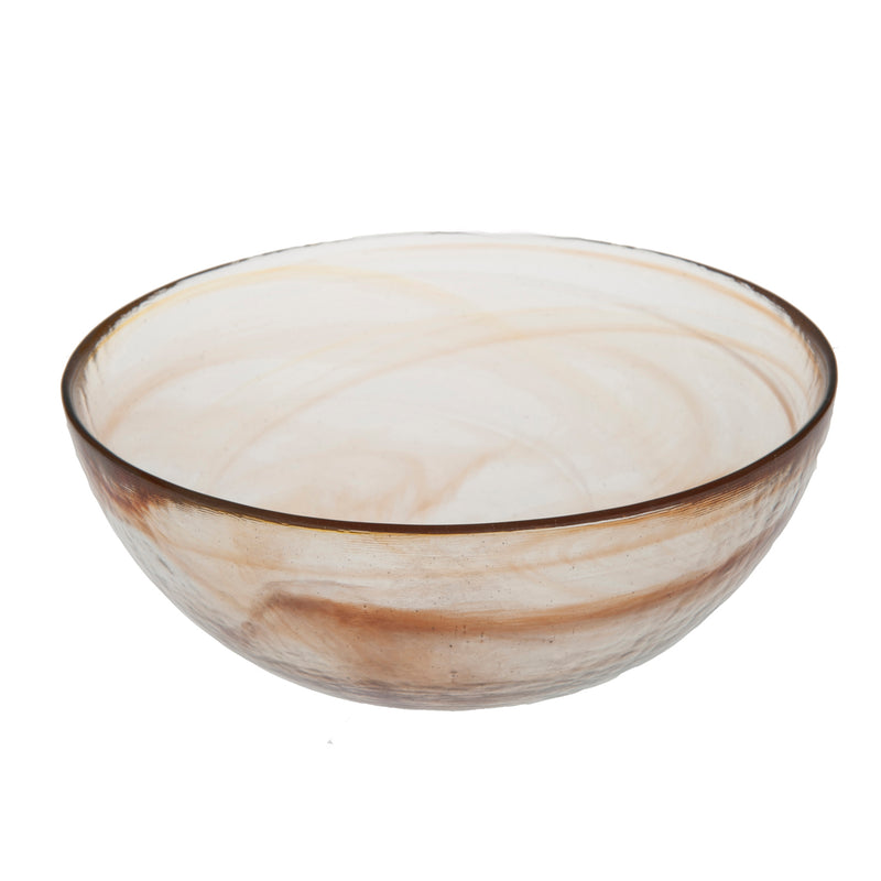Stoneage Glass Bowl, Tangerine Alabaster Finish, Set of 4