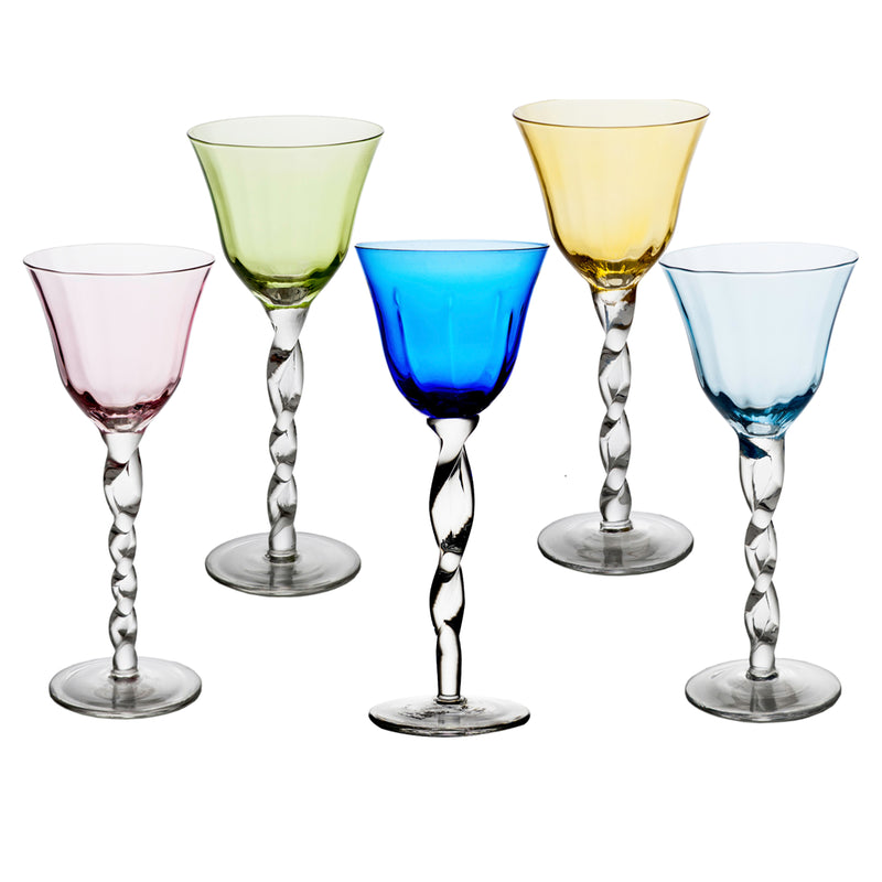 Adriana Wine Glass, Blue, Set of 4