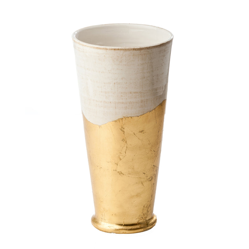 Roma Collection, Gold Wave Vase, Large