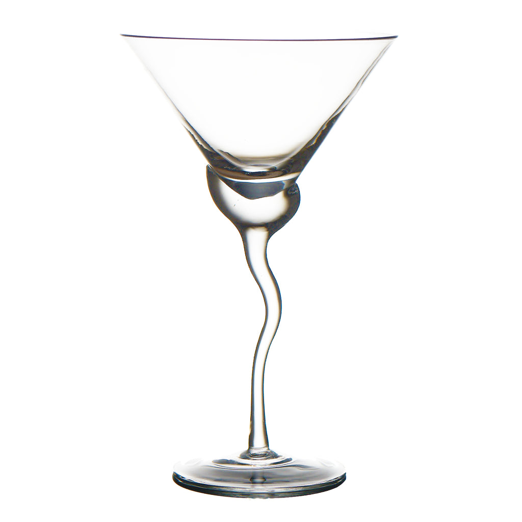 Martini Glass w/ Wave Stem, Set of 4