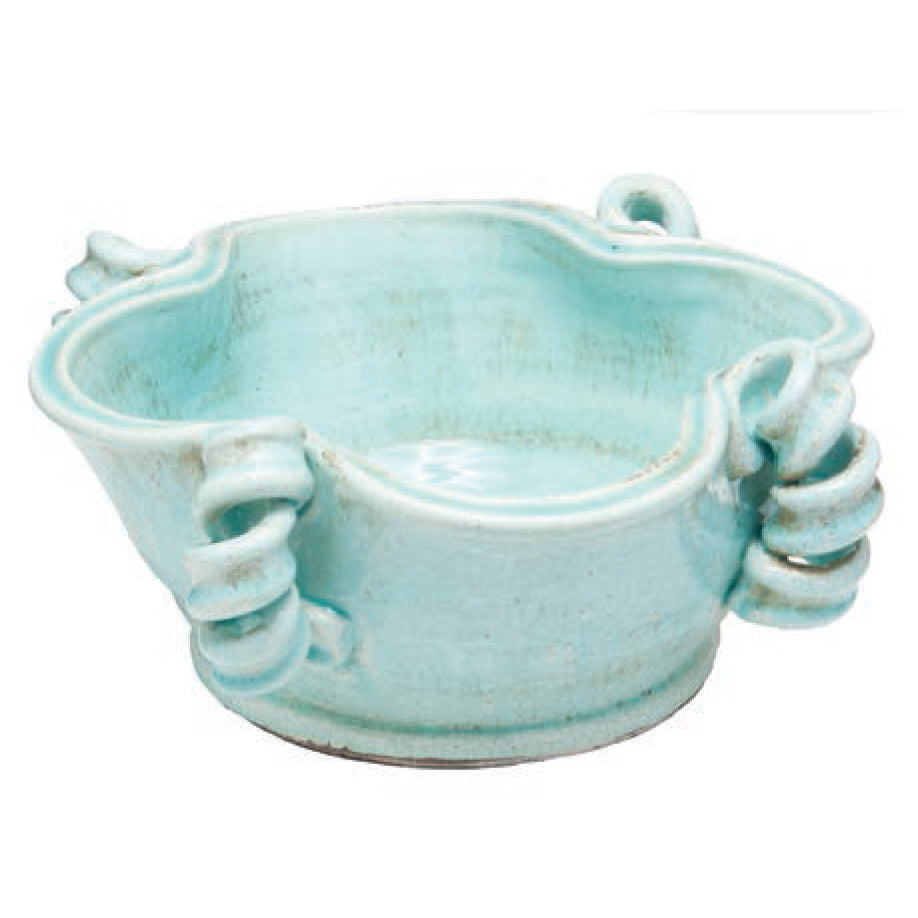 Vinci Centerpiece Bowl, Light Aqua
