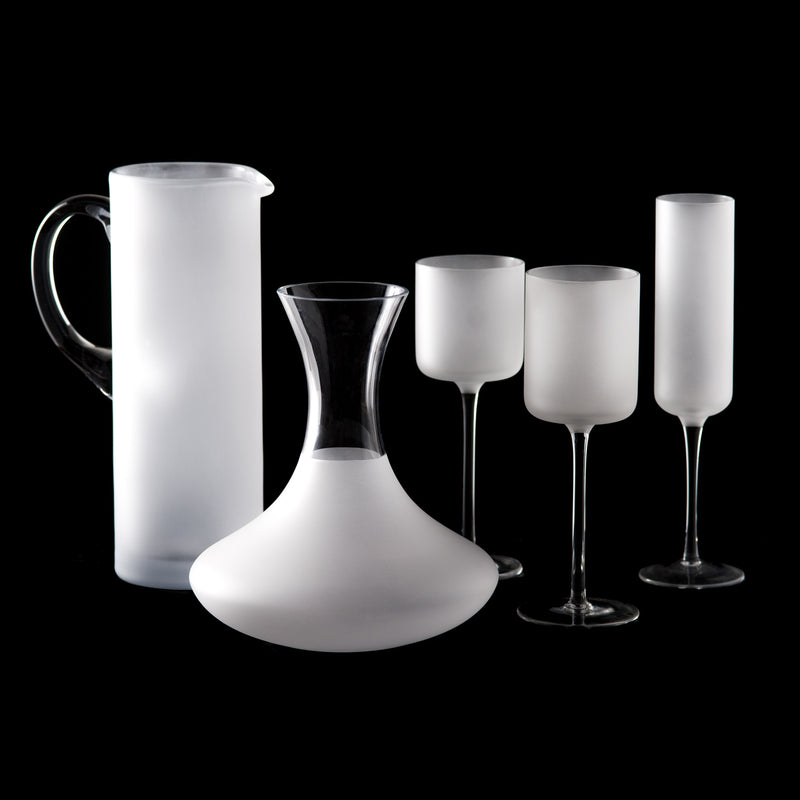Frosted and Clear Carafe