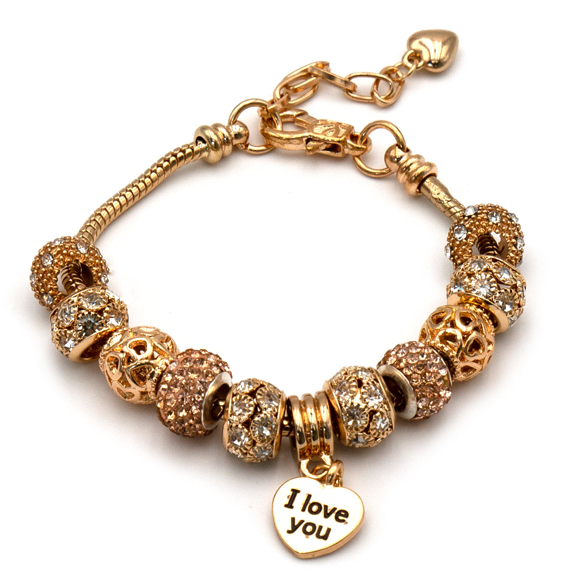 Bracciale: con Charm e Pendente Love You