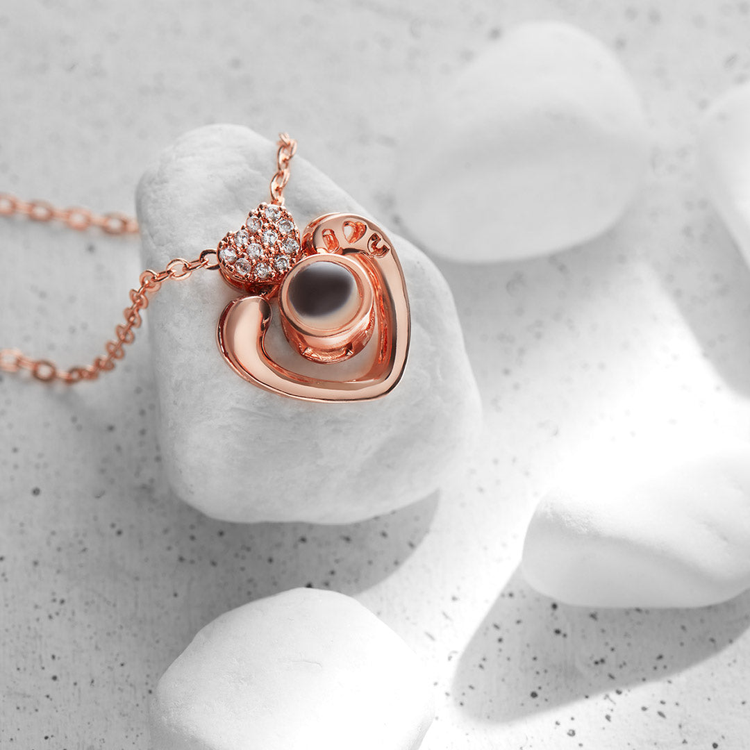 Collana Heart Love You