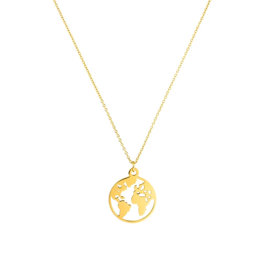 Collana Luxury: Mappamondo Gold