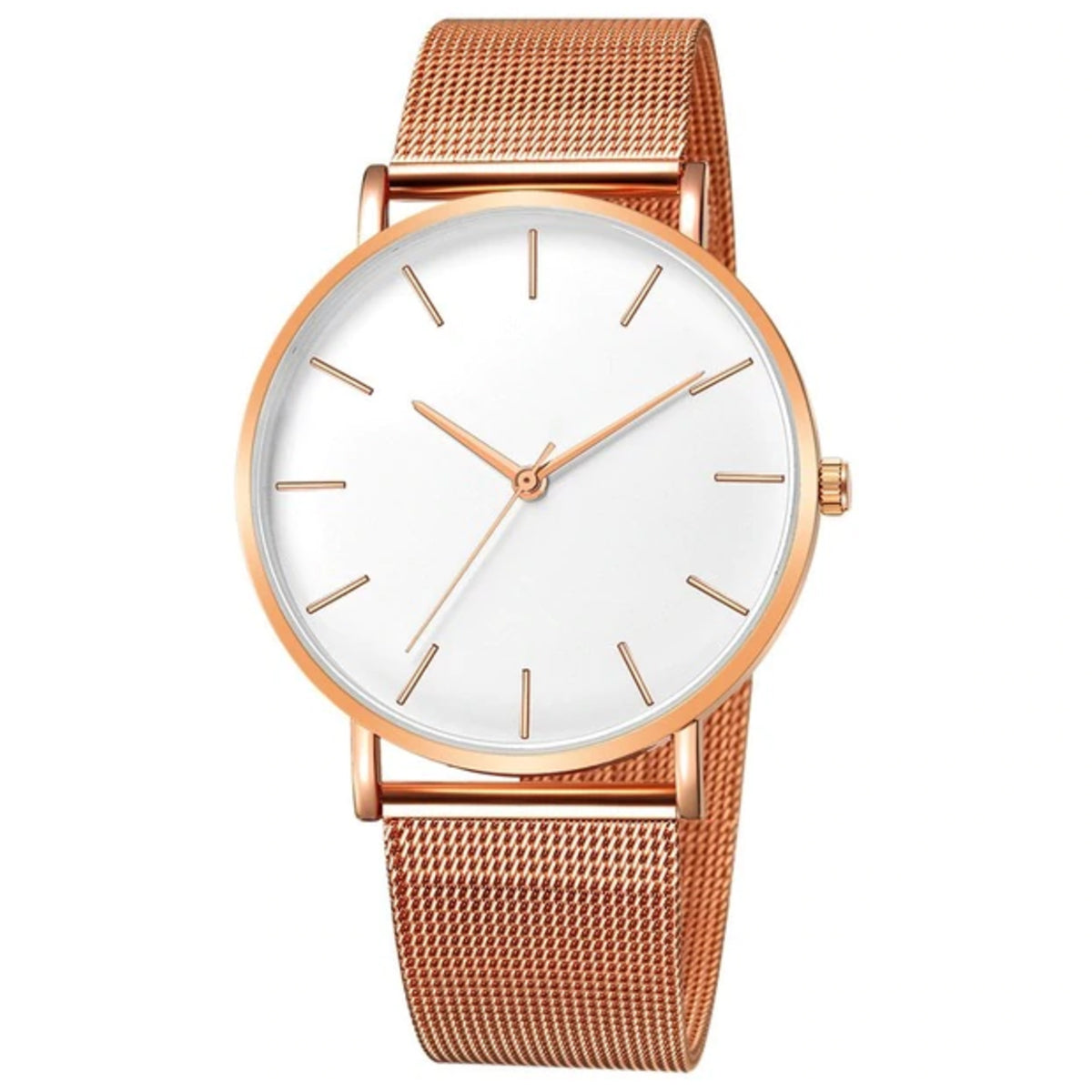 Minimal Slim: Orologio Rose Gold White