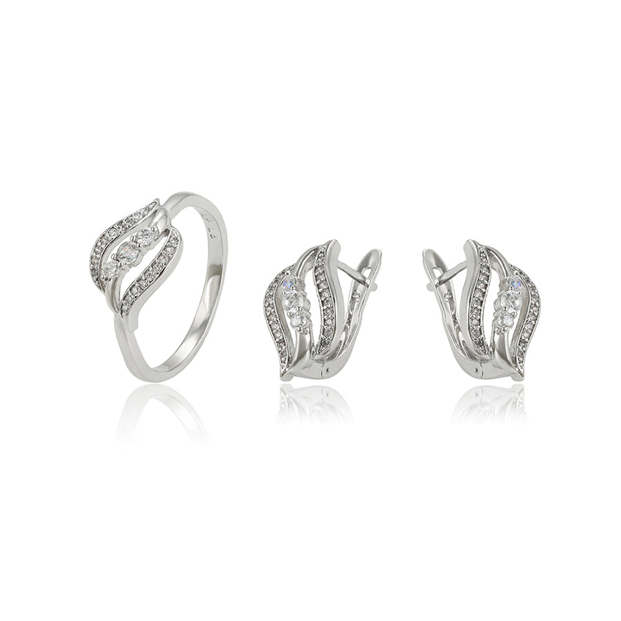 Luxury Set Silver: Anello e Orecchini