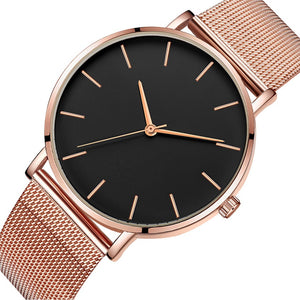 Minimal Slim: Orologio Rose Gold Black