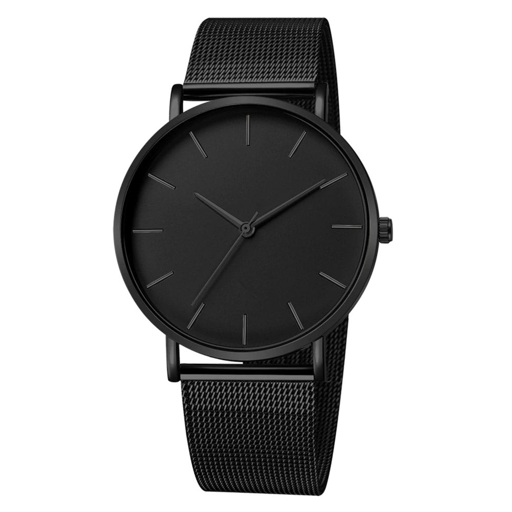 Minimal Slim: Orologio Total Black