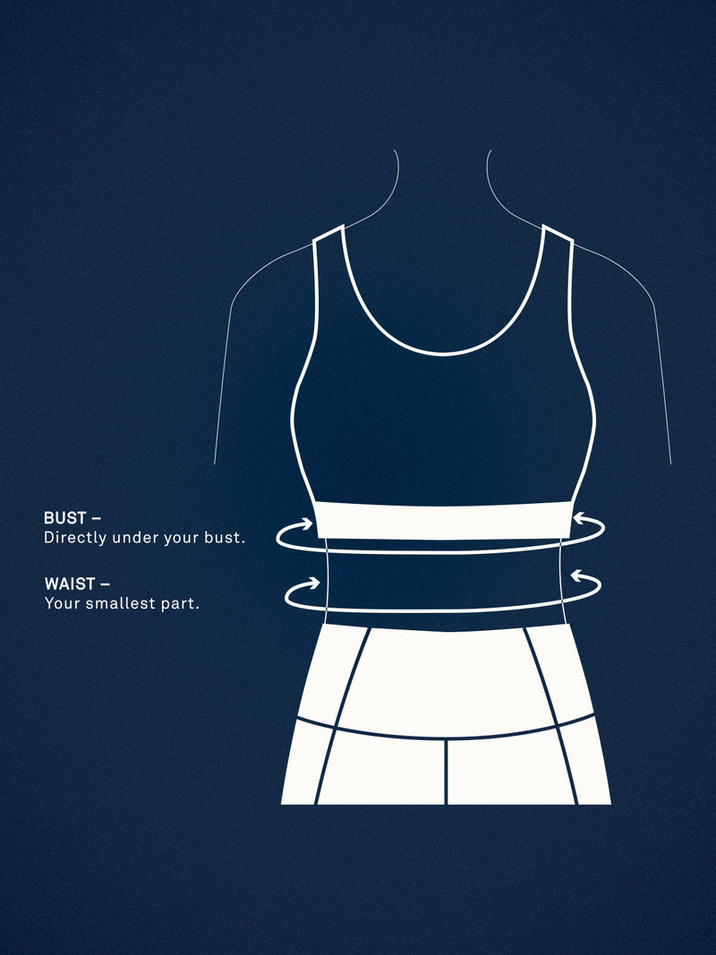 Size_Don't Know / Measurements_Measure your under bust and waist to see which model your measurements are closest to.