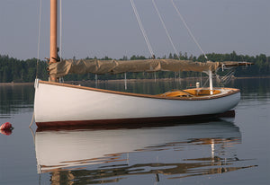 Williams 18' Catboat on mooring