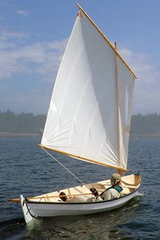 16' pulling boat Shearwater sailing photo